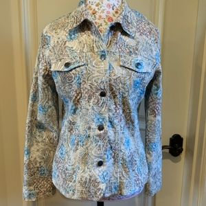 Analogy Floral Embroidered Jacket Size L
